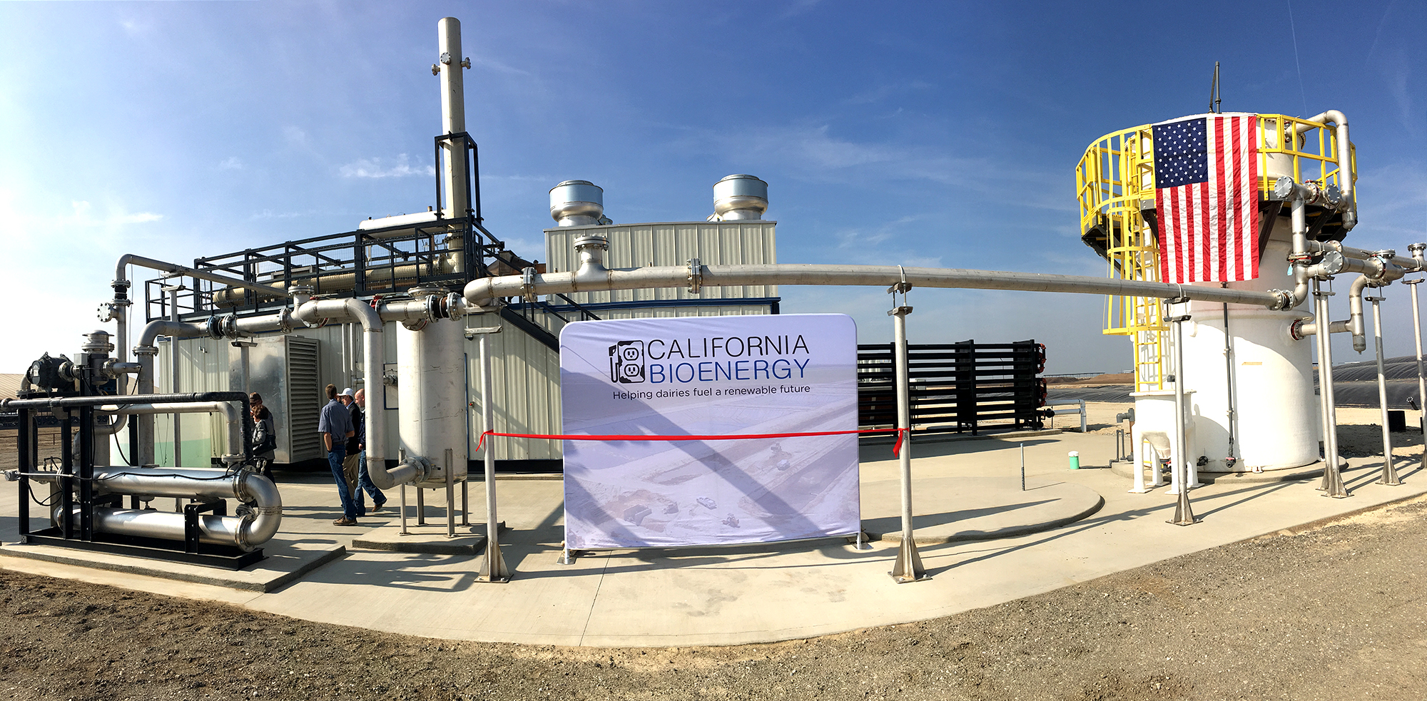 An industrial bioenergy facility in the desert