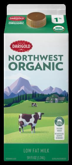 Organic Milk 1% Low Fat 59oz Carton