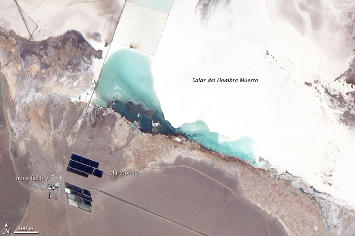 Image of a lithium mine in Argentina