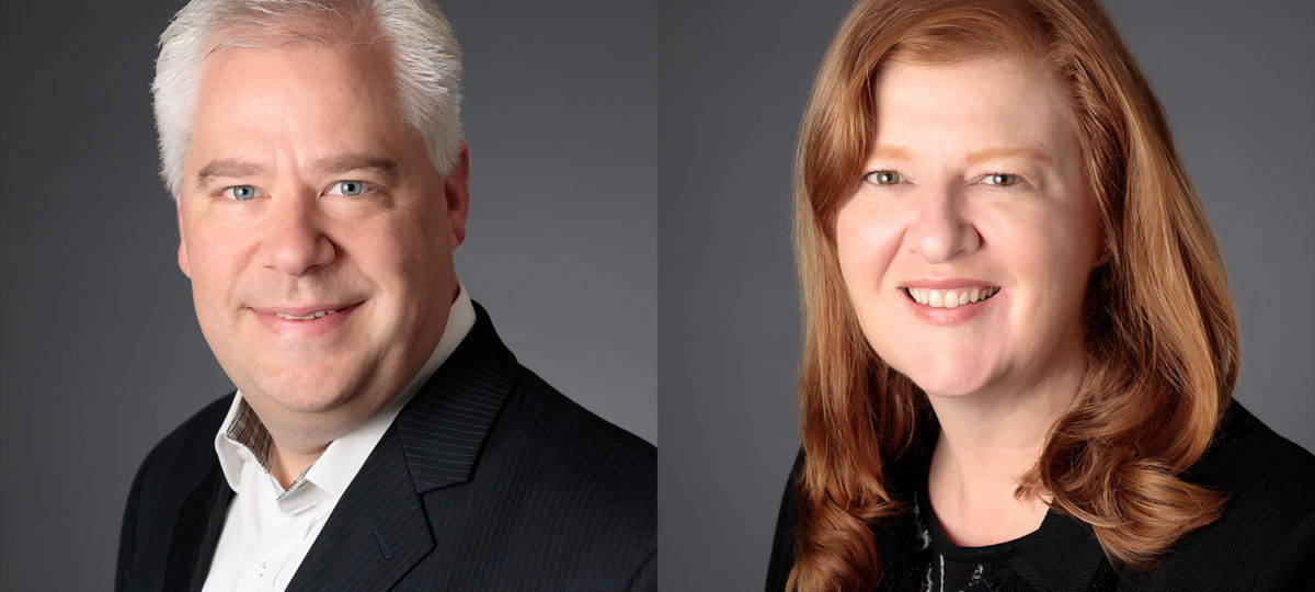 Professional portraits of a man and woman