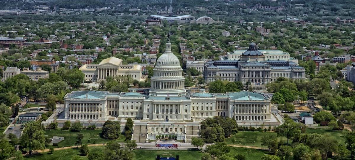 Washington DC aerial image