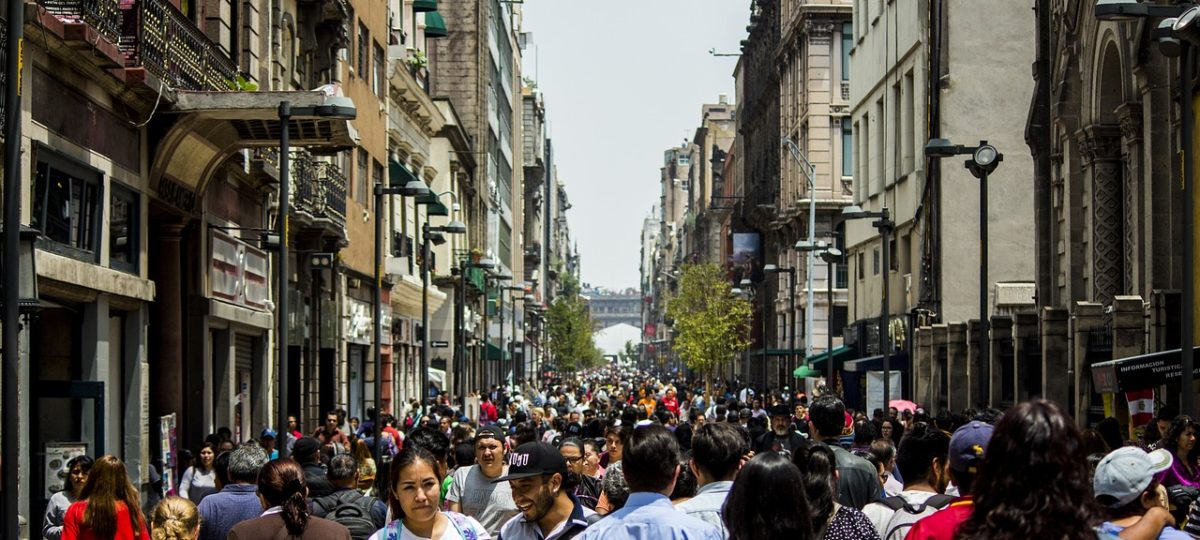 Mexico City People in the Streets
